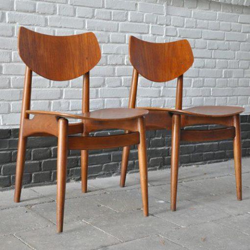 XA50. Plywood stoelen, 1950 - VERKOCHT
