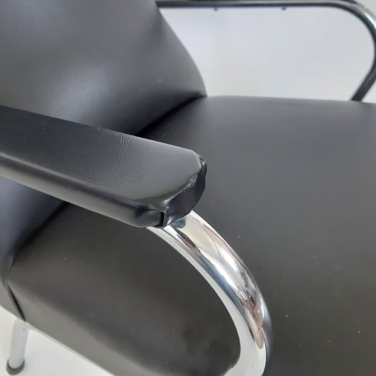 SH50 - Fauteuil jaren 60 -chromen buis meubel