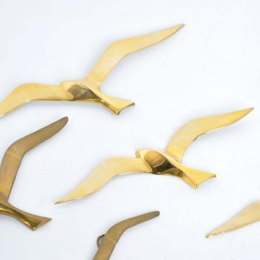 TD50 - Messing Retro Vogels jaren 70 - VERKOCHT