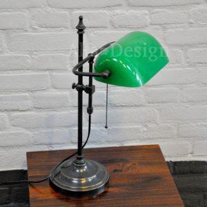 10. Notaris of bankierslamp- groen glas - Gratis verzending