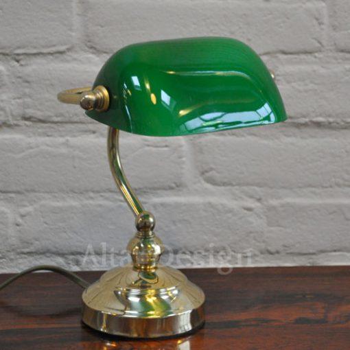 11. Bankierslampje-groen glas